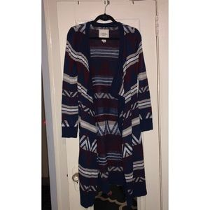 Forever21 Maxi Tribal Sweater